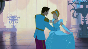 Cinderella dances with Prince Charming