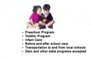 Day Care, preschool, Before and after school care Provider