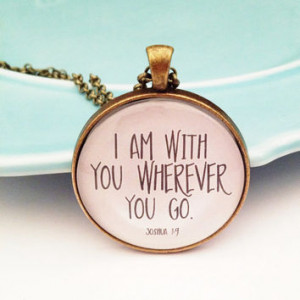 Bible Verse Necklace, Christian Necklace, Sympathy Gift, Loss of Loved ...