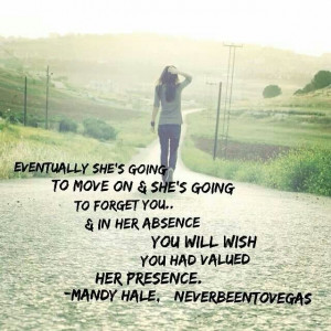 Great quote from Mandy Hale!