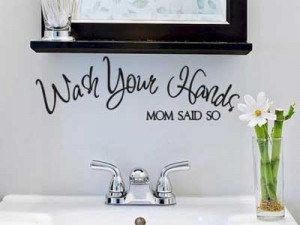 Bathroom Quotes Wall Decals for Kids