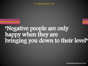 Dealing with Negative People?