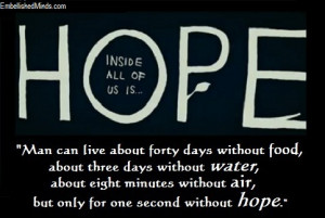 hope quotes hope image Hope Quotes: One Second Without Hope