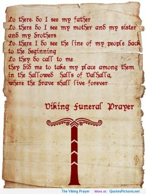 The Viking Prayer motivational inspirational love life quotes sayings ...