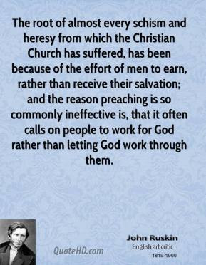 ... from which the christian church has suffered has been because of the