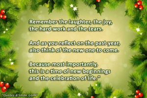New Year Celebration Of Life Quote: