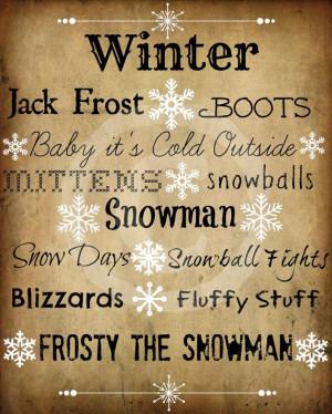 Primitive Winter Sayings Snowflake Word Art Pantry Logo Jpeg Digital ...