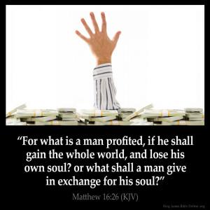 Matthew 16:26 Inspirational Image