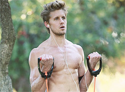 who doesn't need some shirtless matt barr on their dash