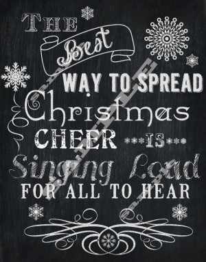 Chalkboard Style Christmas Cheer Elf Quote Subway Holiday Art ...