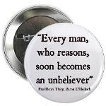 Holbach Atheist Quote Button