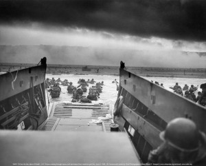 From the sea — U.S. soldiers of Company E, 16th Infantry, 1st ...