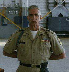 what's the name of the actor who played Sgt. Maj. Basil Plumley?