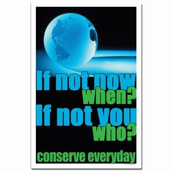 Energy Conservation Posters, Placards and Signs, Custom and Stock