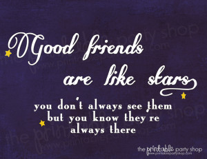 Good Friends are Like Stars Wall Print www.printablepartyshop.com @ ...
