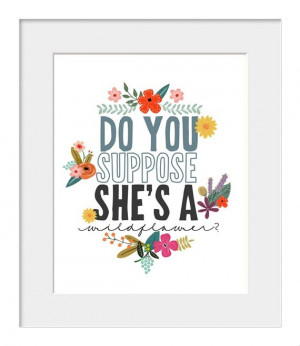 Do You Suppose She's a Wildflower? | jmpaper