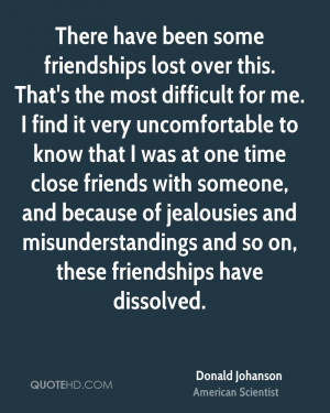 Donald Johanson Friendship Quotes