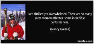 More Nancy Greene Quotes