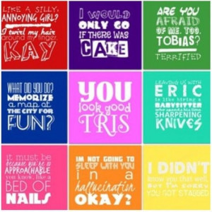 ya book quotes | Favorite YA Book Quotes / Divergent Veronica Roth ...
