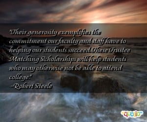 Their generosity exemplifies the commitment our faculty