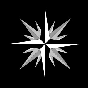 compass rose showing the four cardinal directions, the four ordinal ...