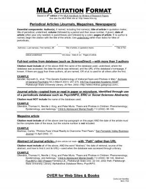 MLA Citation Format by tyndale