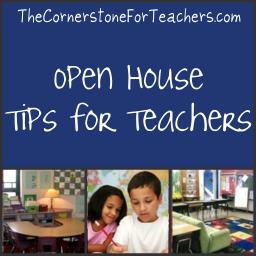 Open house tips for teachers
