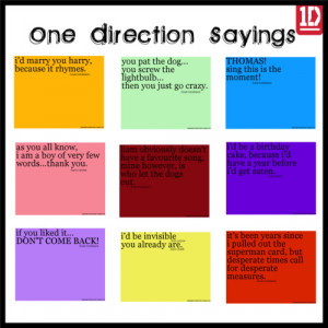 One Direction Funny Quotes and Sayings