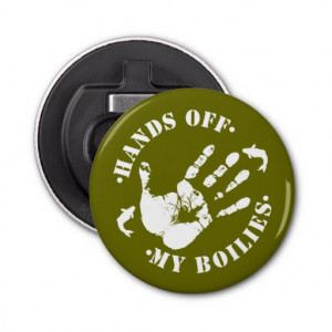 Funny Hands off my Carp Fishing Bait Bottle Opener Button Bottle ...
