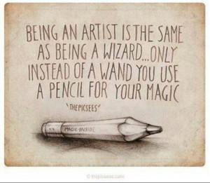 Being an artist...