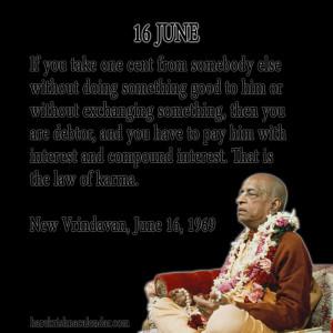 Srila Prabhupada Quotes For Month June16