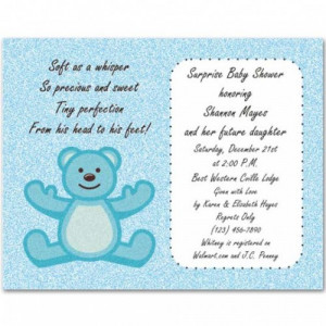 modern jungle bear baby boy shower invitations bs058