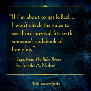 From The False Prince by Jennifer A. Nielsen. Read an excerpt here ...