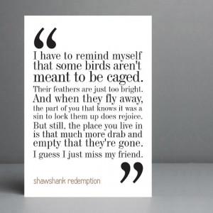 Shawshank Redemption Movie Quote. Typography Print. 8x10 on A4 ...