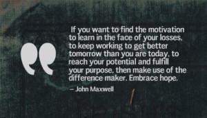 Hope, The Motivation of Learning - The John Maxwell Company