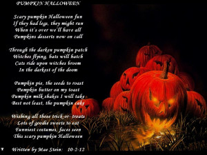 Scary Halloween Poems My halloween poem for the