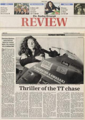 Francesca Giordano - Thrill of the TT Chase - Sunday Telegraph - 6