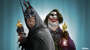 Wallpaper funny joker and batman fat and old