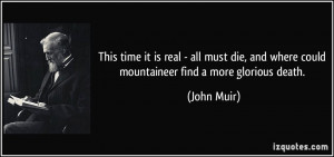 John Muir Quotes On Death