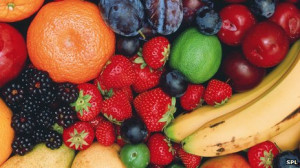 Fruit, such as bananas, and most vegetables and pulses are high in ...
