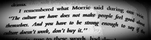 Tuesdays With Morrie Quotes I took tuesdays with morrie