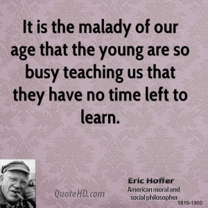 Eric Hoffer Time Quotes