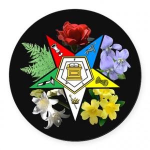 Eastern Star Floral Car Magnet