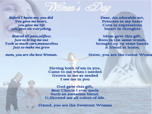 Women's day lovely poem