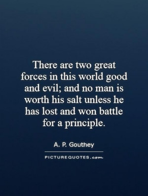 Principles Quotes A P Gouthey Quotes