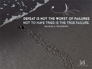 Overcome defeat