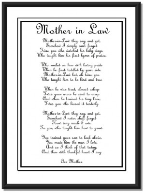 future mother in law poems