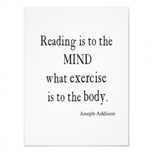 Vintage Addison Reading Mind Inspirational Quote Photo Print
