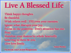 live a blessed life