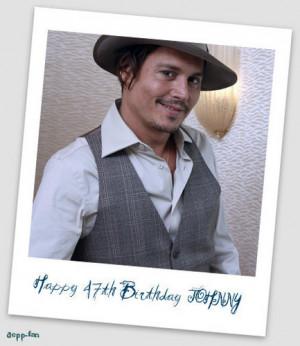 HAPPY 47th BIRTHDAY JOHNNY!!!!!